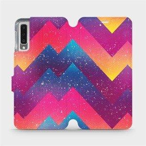 Flipové pouzdro Mobiwear na mobil Samsung Galaxy A7 2018 - V110S Barevné klikyháky