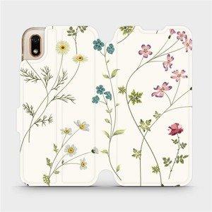 Flipové pouzdro Mobiwear na mobil Huawei Y5 2019 - MD03S Tenké rostlinky s květy