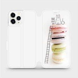 Flipové pouzdro Mobiwear na mobil Apple iPhone 11 Pro - M090P Makronky - have a nice day