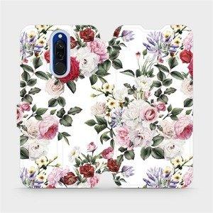 Flipové pouzdro Mobiwear na mobil Xiaomi Redmi 8 - MD01S Růže na bílé