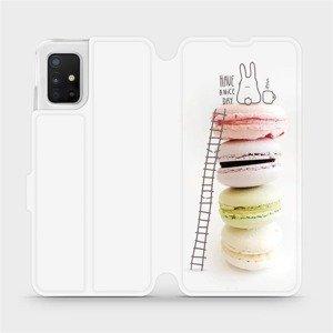 Flipové pouzdro Mobiwear na mobil Samsung Galaxy A51 - M090P Makronky - have a nice day