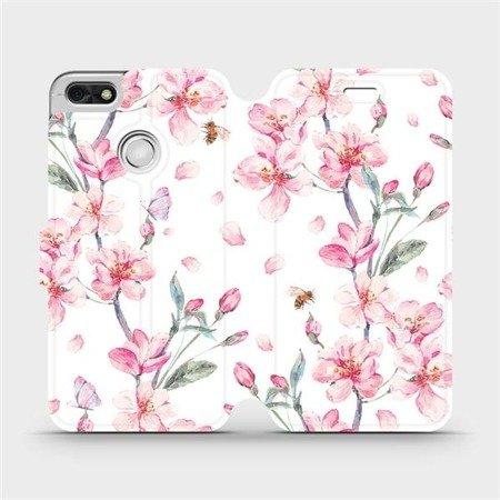 Flipové pouzdro Mobiwear na mobil Huawei P9 Lite mini - M124S Růžové květy