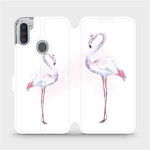 Flipové pouzdro Mobiwear na mobil Samsung Galaxy M11 - M005S Plameňáci