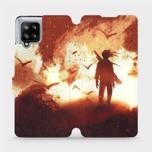 Flipové pouzdro Mobiwear na mobil Samsung Galaxy A42 5G - MA06S Postava v ohni