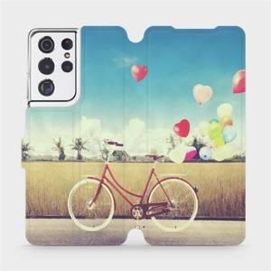 Flipové pouzdro Mobiwear na mobil Samsung Galaxy S21 Ultra 5G - M133P Kolo a balónky