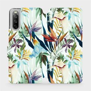 Flip pouzdro Mobiwear na mobil Sony Xperia 10 III - M071P Flóra