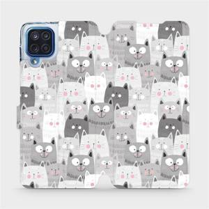Flipové pouzdro Mobiwear na mobil Samsung Galaxy M12 - M099P Kočičky