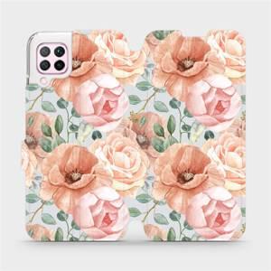 Flip pouzdro Mobiwear na mobil Huawei P40 Lite - MP02S Pastelové květy
