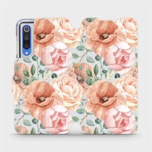 Flip pouzdro Mobiwear na mobil Xiaomi Mi 9 SE - MP02S Pastelové květy