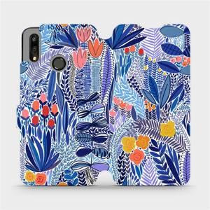 Flip pouzdro Mobiwear na mobil Huawei P Smart 2019 - MP03P Modrá květena