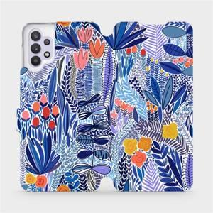 Flip pouzdro Mobiwear na mobil Samsung Galaxy A32 5G - MP03P Modrá květena