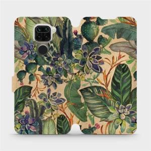 Flip pouzdro Mobiwear na mobil Xiaomi Redmi Note 9 - VP05S Sukulenty