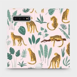 Flip pouzdro Mobiwear na mobil Samsung Galaxy S10 - MP07S Leopardi