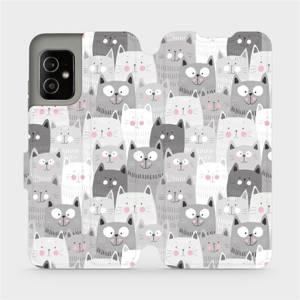 Flip pouzdro Mobiwear na mobil Asus Zenfone 8 - M099P Kočičky
