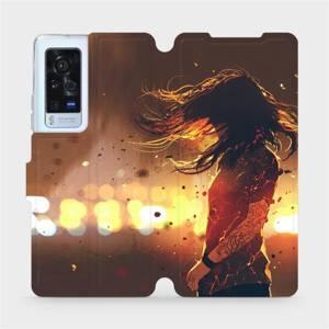 Flip pouzdro Mobiwear na mobil Vivo X60 Pro 5G - MA02S Tetovaná dívka