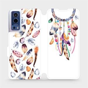 Flip pouzdro Mobiwear na mobil Vivo Y72 5G / Vivo Y52 5G - M003S Lapač a barevná pírka