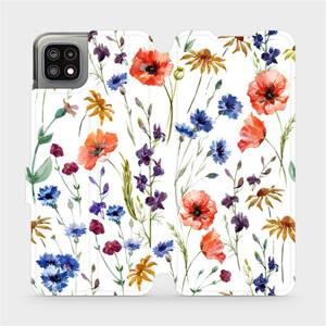 Flip pouzdro Mobiwear na mobil Samsung Galaxy A22 5G - MP04S Luční kvítí