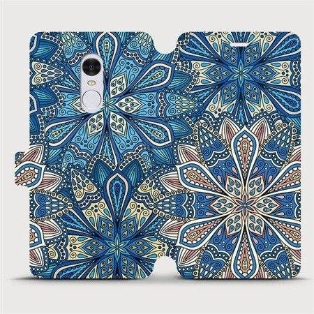 Flipové pouzdro Mobiwear na mobil Xiaomi Redmi Note 4 Global - V108P Modré mandala květy