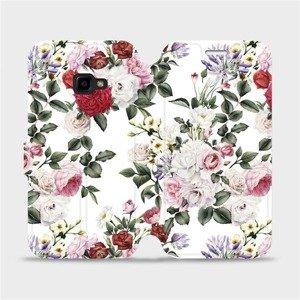 Flipové pouzdro Mobiwear na mobil Samsung Xcover 4 - MD01S Růže na bílé