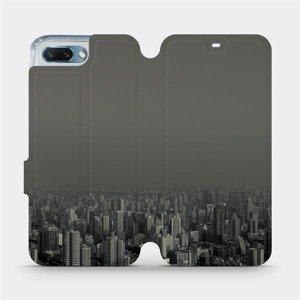 Flipové pouzdro Mobiwear na mobil Honor 10 - V063P Město v šedém hávu