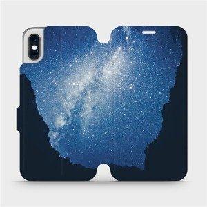 Flipové pouzdro Mobiwear na mobil Apple iPhone XS - M146P Galaxie