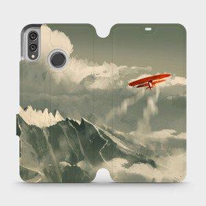 Flipové pouzdro Mobiwear na mobil Honor 8X - MA03P Oranžové letadlo v horách