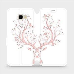 Flipové pouzdro Mobiwear na mobil Samsung Galaxy J4 Plus 2018 - M007S Růžový jelínek