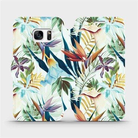 Flipové pouzdro Mobiwear na mobil Samsung Galaxy S7 - M071P Flóra