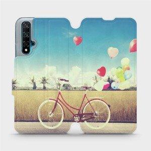 Flipové pouzdro Mobiwear na mobil Huawei Nova 5T - M133P Kolo a balónky