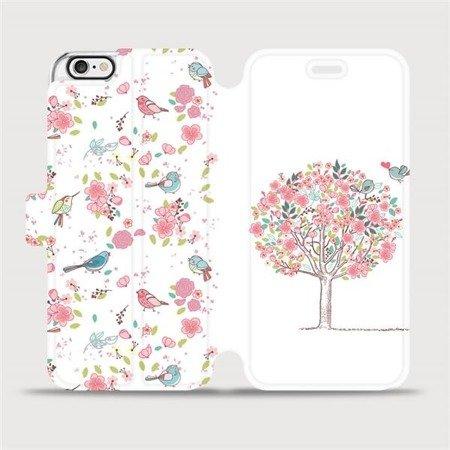Flipové pouzdro Mobiwear na mobil Apple iPhone 6 / iPhone 6s - M120S Strom a ptáčci