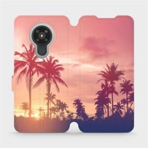 Flipové pouzdro Mobiwear na mobil Nokia 5.3 - M134P Palmy a růžová obloha