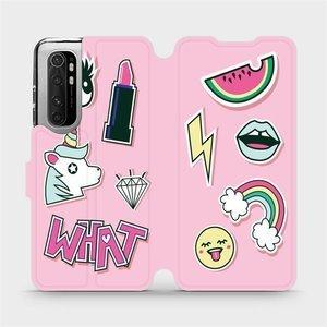 Flipové pouzdro Mobiwear na mobil Xiaomi Mi Note 10 Lite - M129S Růžové WHAT