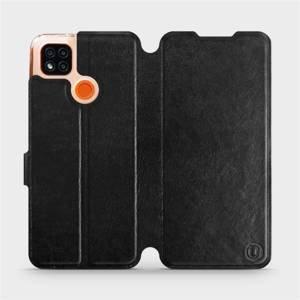 Flipové pouzdro Mobiwear na mobil Xiaomi Redmi 9C v provedení C_BLP Black&Orange s oranžovým vnitřkem