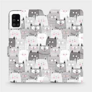 Flipové pouzdro Mobiwear na mobil Samsung Galaxy M51 - M099P Kočičky