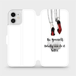 Flipové pouzdro Mobiwear na mobil Apple iPhone 12 - M046P Be yourself