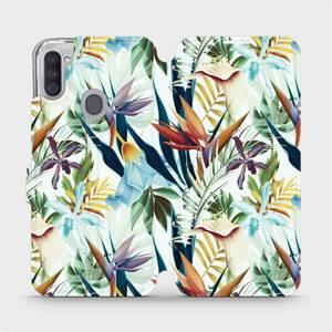 Flipové pouzdro Mobiwear na mobil Samsung Galaxy M11 - M071P Flóra