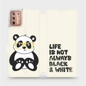 Flipové pouzdro Mobiwear na mobil Motorola Moto G9 Plus - M041S Panda - life is not always black and white