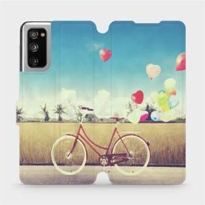 Flipové pouzdro Mobiwear na mobil Samsung Galaxy S20 FE - M133P Kolo a balónky