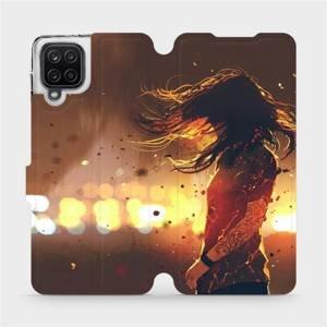 Flipové pouzdro Mobiwear na mobil Samsung Galaxy A12 - MA02S Tetovaná dívka