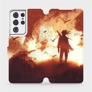 Flipové pouzdro Mobiwear na mobil Samsung Galaxy S21 Ultra 5G - MA06S Postava v ohni
