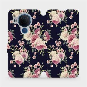 Flipové pouzdro Mobiwear na mobil Nokia 5.4 - V068P Růžičky