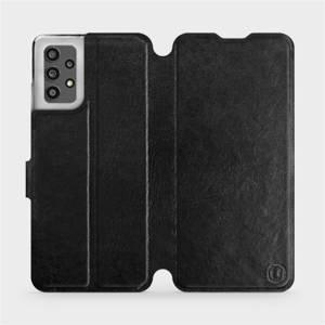 Flip pouzdro Mobiwear na mobil Samsung Galaxy A32 LTE v provedení C_BLS Black&Gray s šedým vnitřkem