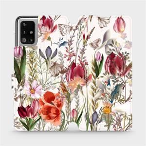 Flip pouzdro Mobiwear na mobil Samsung Galaxy M51 - MP01S Rozkvetlá louka