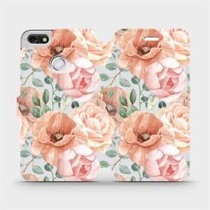 Flip pouzdro Mobiwear na mobil Huawei P9 Lite mini - MP02S Pastelové květy