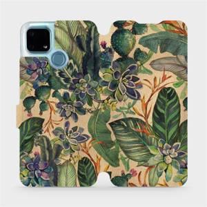 Flip pouzdro Mobiwear na mobil Realme 7i - VP05S Sukulenty