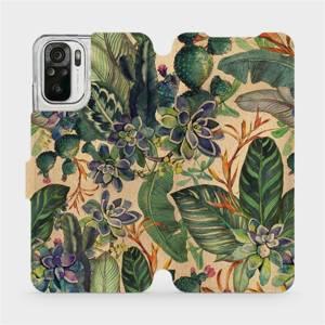 Flip pouzdro Mobiwear na mobil Xiaomi Redmi Note 10 - VP05S Sukulenty