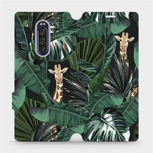 Flip pouzdro Mobiwear na mobil Sony Xperia 1 - VP06P Žirafky