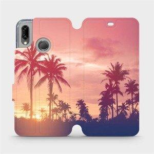 Flipové pouzdro Mobiwear na mobil Huawei P20 Lite - M134P Palmy a růžová obloha