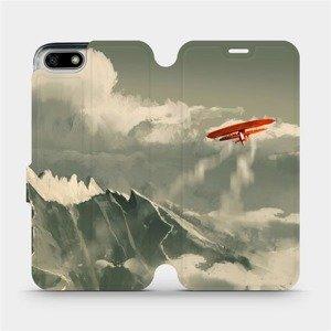 Flipové pouzdro Mobiwear na mobil Honor 7S - MA03P Oranžové letadlo v horách