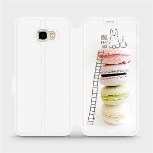 Flipové pouzdro Mobiwear na mobil Samsung Galaxy J4 Plus 2018 - M090P Makronky - have a nice day